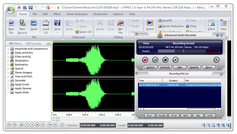 Click to view Advanced Audio Recorder 7.5.4 screenshot